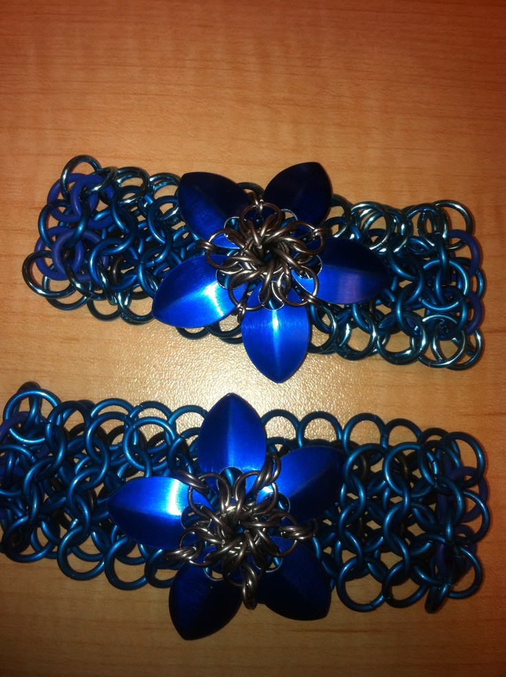 """Chain mail bracelet with scale star.  """"LIKE"""" us on facebook.  Bcchains chain mail and more."""