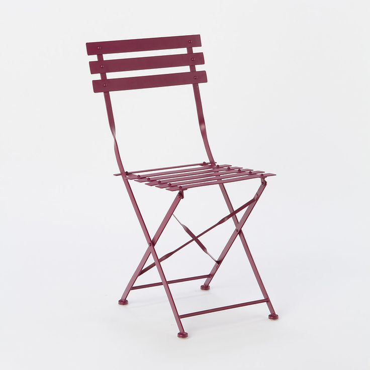 Painted Metal Bistro Chair In Outdoor Living Furniture Tables Chairs At Terrain Love These And They Fold Up For Easy Storage