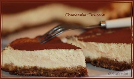Cheesecake-tiramisu : deux desserts en un