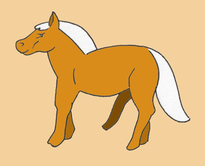 Horse with five legs #horses #nature #illustrations #art #earthontheroad