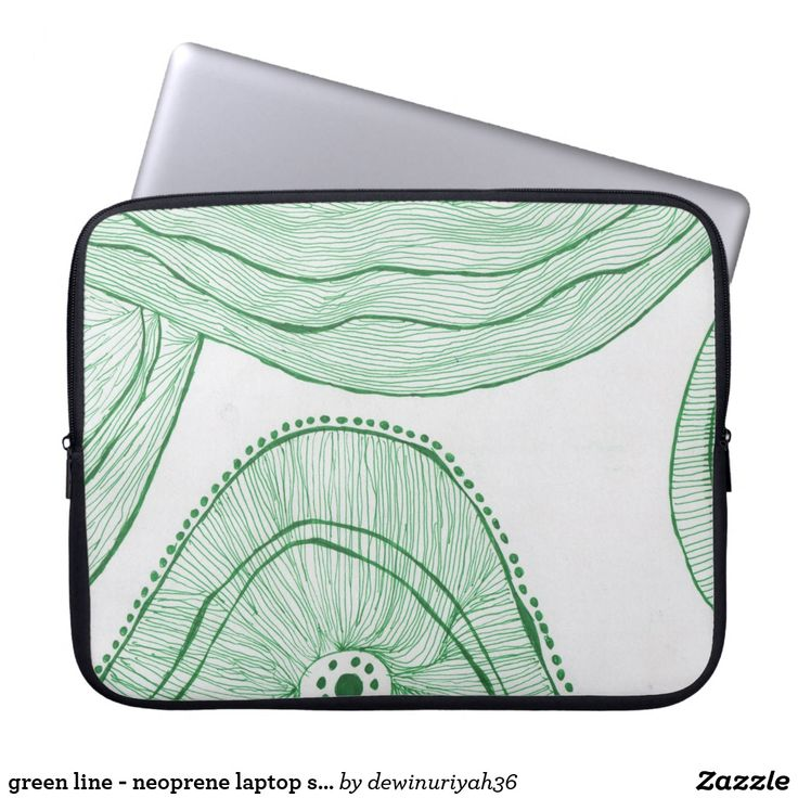green line - neoprene laptop sleeve