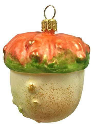Turban Pumpkin Squash Polish Glass Christmas Tree Ornament Vegetable Fruit Food