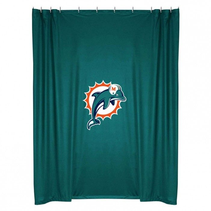 Miami Dolphins Shower Curtain | Foregather.net