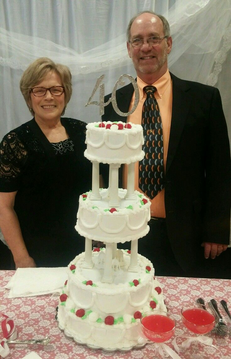 Best 20 40th Anniversary Cakes Ideas On Pinterest 40th