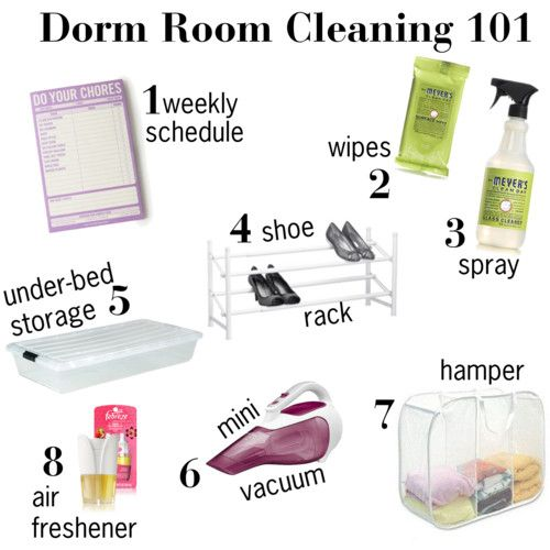 dorm cleaning- some of these will just be cuter in my world