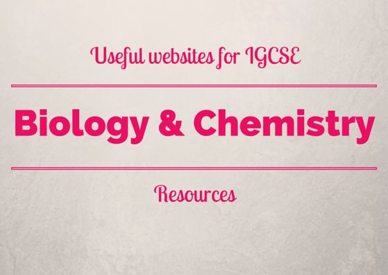 Chemistry websites