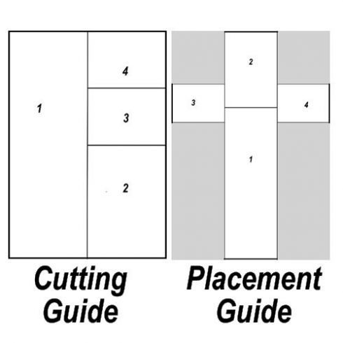 Cross cake cutting guide- if you don't have a cross-shaped baking pan