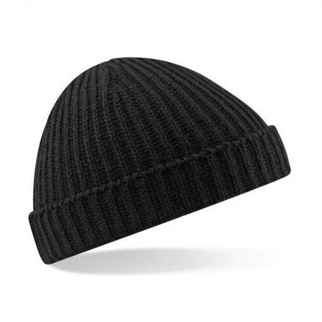 2016 Winter new MEN And Women's Beanie Hat Trawler Fisherman Ribbed Cuffed Wooly Knitted cap