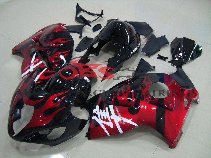 Red Flame fairing kit for #Suzuki GSXR 1300 #Hayabusa 1999-2007 #motorcycles