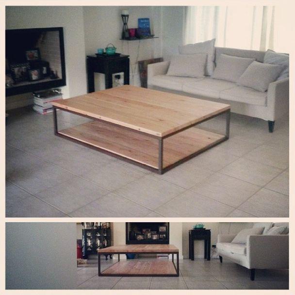 : : : Mesa Superclásica Eucalipto : : : Medidas 160x120cm - Hierro oxidado y madera - Muebles y diseños a medida - www.facebook.com/SachaMuebles