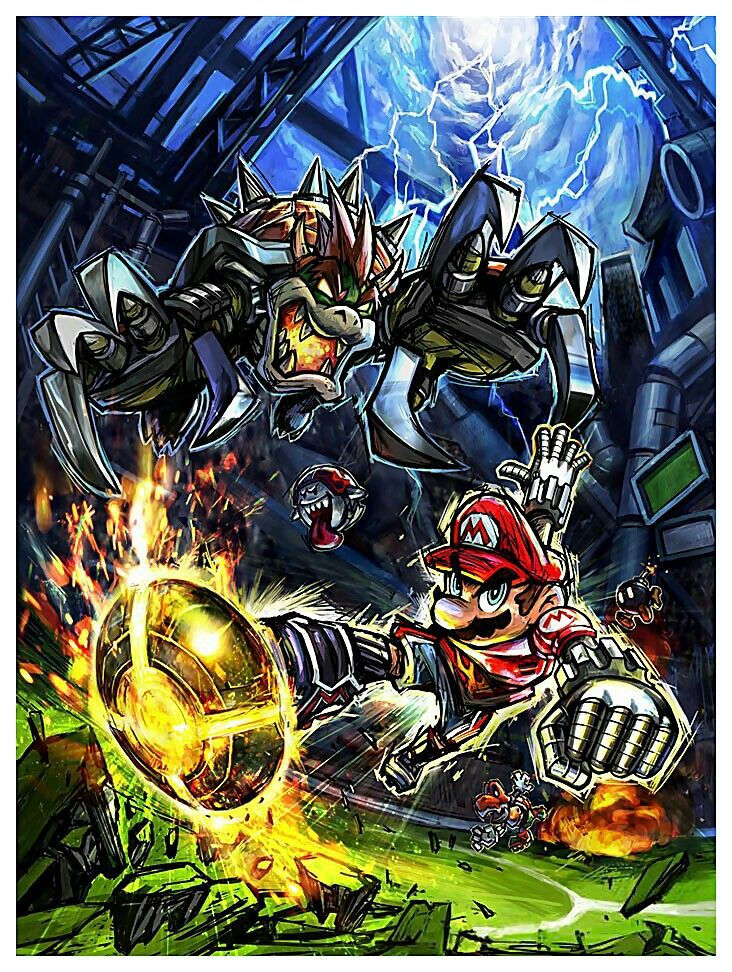 Main Illustration - Characters Art - Mario Strikers Charged.jpg