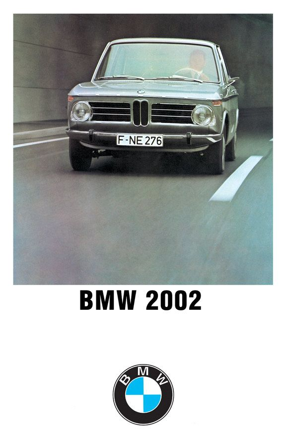 1973 BMW 2002 Poster Size Ad