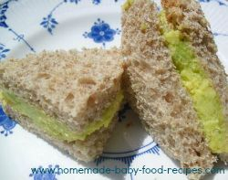7 sandwich fillings for babies.. some great ideas!