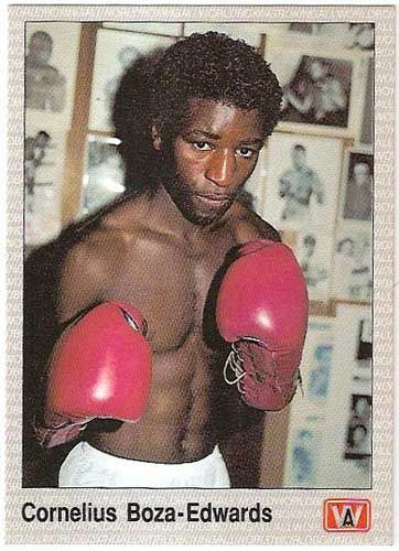 Was fascinated by this guy as a kid. Ugandan-British Cornelius Boza Edwards - fought all the tough lighter guys in the early '80s: Rafael Limon, Bobby Chacon, Alexis Arguello.