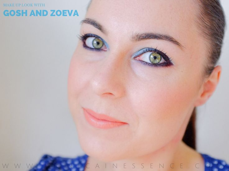 Blue fall make up with Zoeva Luxe Cream Listick ang eyshadows from Gosh Cosmetics