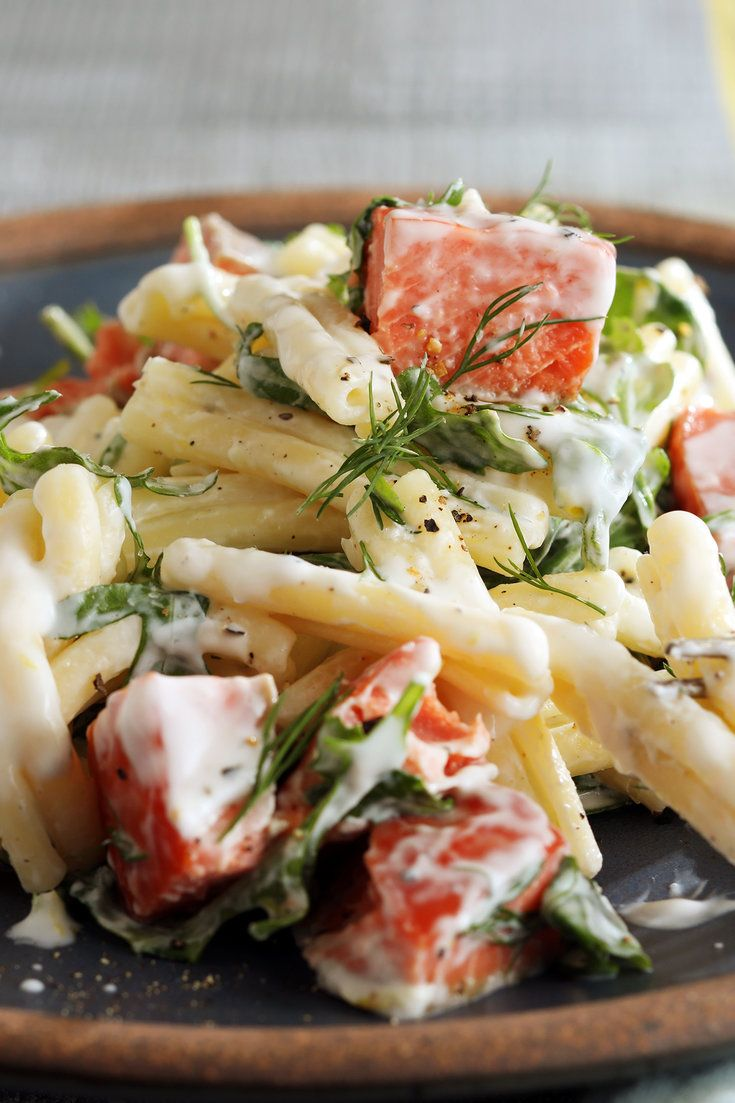 Creamy Pasta With Smoked Salmon Arugula And Lemon Recipe Smoked Salmon Pasta Creamy Pasta Recipes