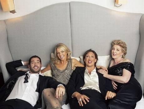 In bed with Miranda Hart ... what fun! - ES Magazine - Life & Style - London Evening Standard (Tom Ellis, Sarah Hadland, Miranda Hart, Patricia Hodge)