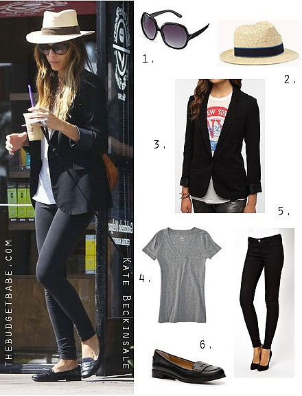 Dress by Number: Kate Beckinsale's Boyfriend Blazer and Loafers