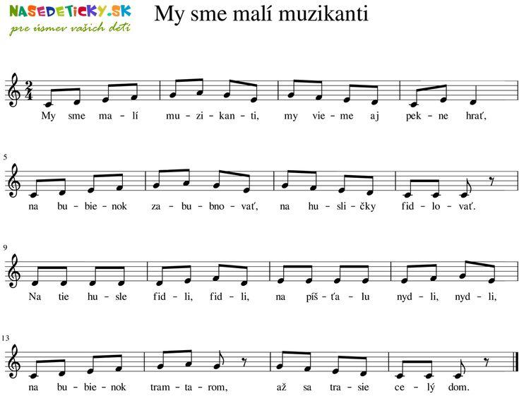 My sme malí muzikanti - Ľudová pieseň - Aktivity pre deti, pracovné listy, online testy a iné