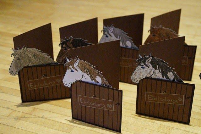 einladungskarten mit pferden | peri geburtstag | pinterest, Einladung