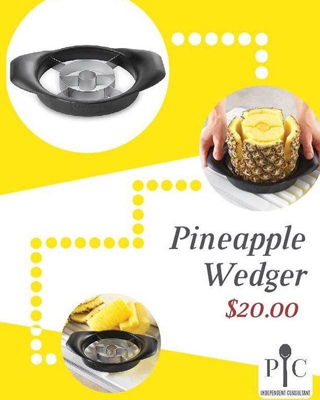Sorry for the delay due to a family emergency... but we're BACK! With Day 2 of the Healthy Living Challenge!  Our 2nd product is the Pineapple Wedger!  Pineapples help with pain and inflammation. Plus they are tasty! Core, peel, and halve all at once! Plus use on pears, cucumbers, zucchini and tomatoes. Only $20 and its dishwasher safe! facebook.com/pamperedmorgan  pamperedchef.biz/morganriebel  #healthyliving #healthyeating #2017resolutions #kitchentools #cookingfun  Yummery - best recipes…