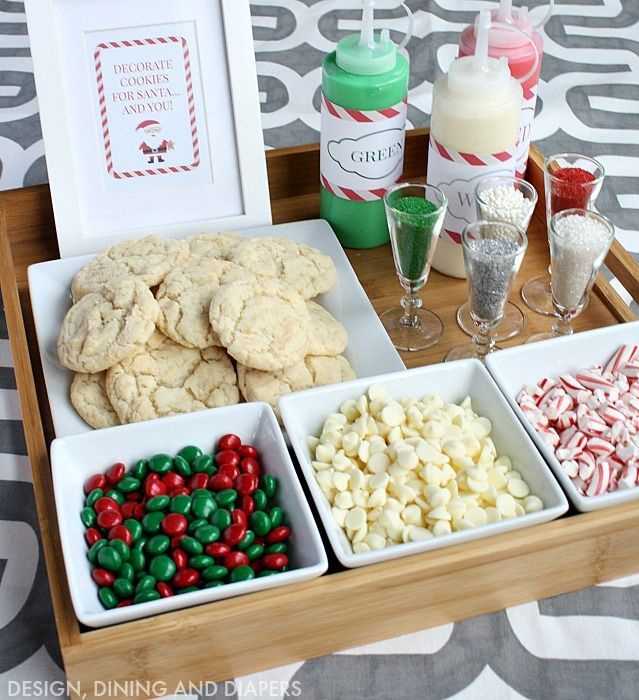 Christmas Cookie Decorating Station for kids or adults! Great party activity! #100Christmasprojects