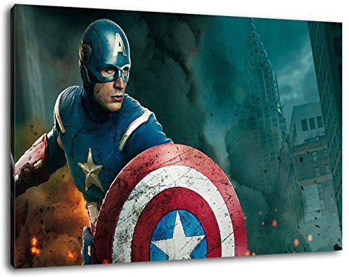 Captain America Marvel Comic Helden Format 120x80 cm Bild