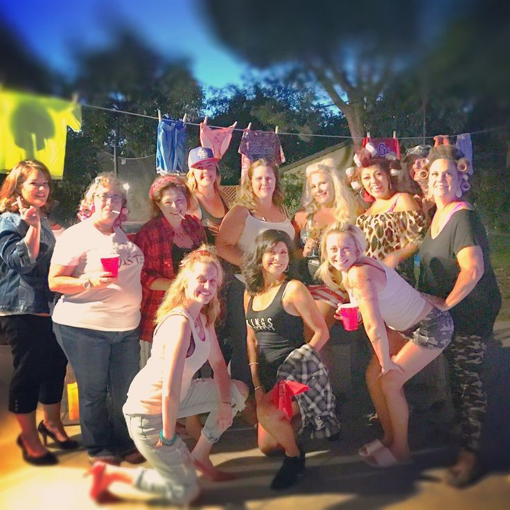 Redneck outfits for white trash party. Trailer trash party. Birthday party ideas. Redneck party.