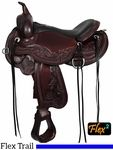 "** SALE ** 14"" to 17"" Circle Y Julie Goodnight Wind River Flex2 Trail Saddle 1750"