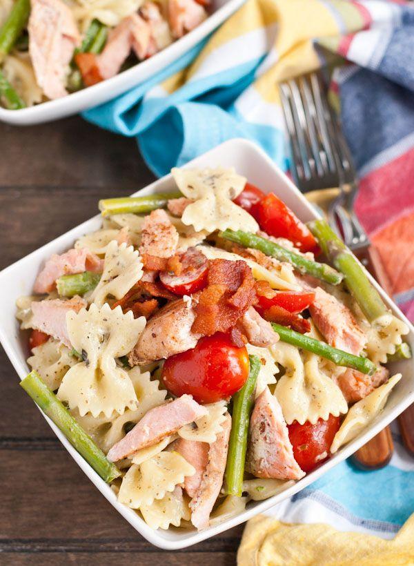 Salmon and pesto pasta recipes