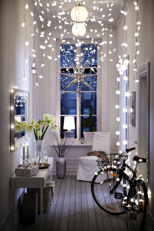 Fairy Lights in the hallway hang