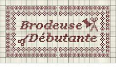 brodeuse - embroiderer - étiquette - brodeuse débutante - point de croix - cross stitch - Blog : http://broderiemimie44.canalblog.com/