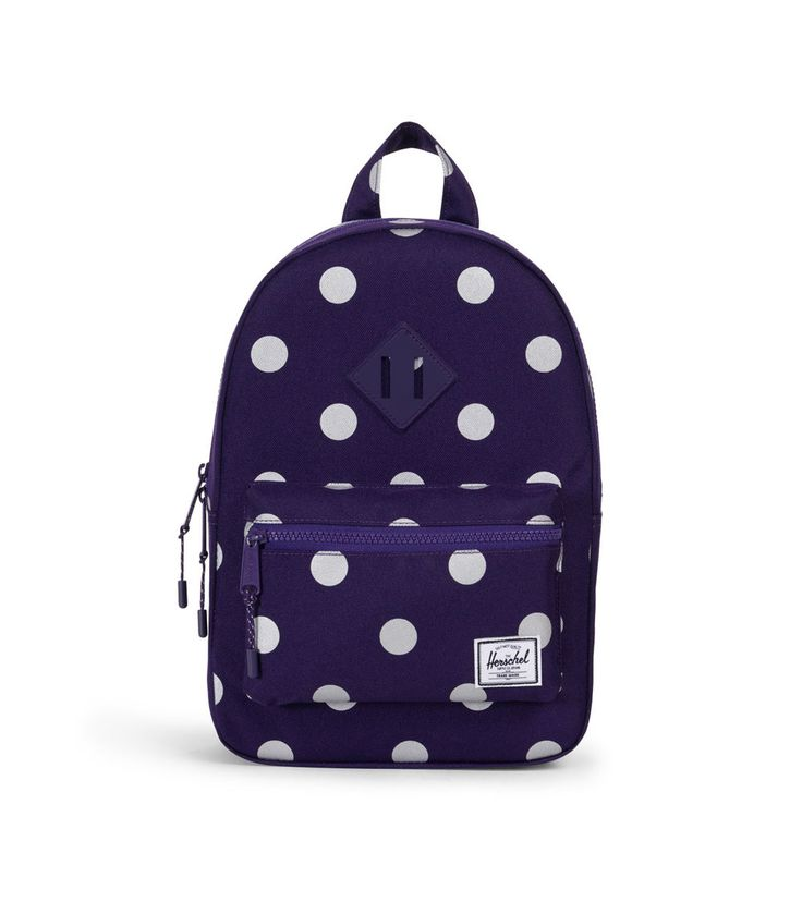 Herschel Heritage Kids Backpack Parachute Purple Polka Dot/Parachute Purple Rubber, Kids Backpack, Home and Gifts, www.oishi-m.com