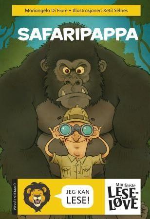 Om boka: Vill safari! Boka har lite tekst på hver side, enkelt språk og mange kule tegninger. Stor størrelse på bokstavene og en sprø fortelling!  En familie drar på safari. Men pappa er kanskje litt for ivrig…
