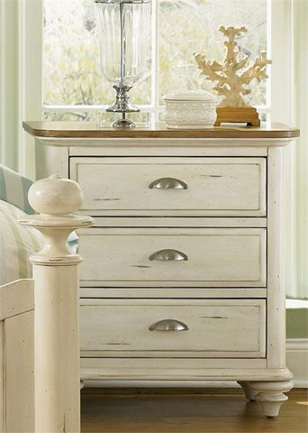 Liberty Furniture - Three Drawer Nightstand - 303-BR63