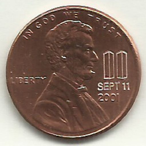 2001 Lincoln Cent RARE Sept 11 2001 Twin Towers Memorial 9-11 LTD Edition Penny Coin ACEO  14-1052