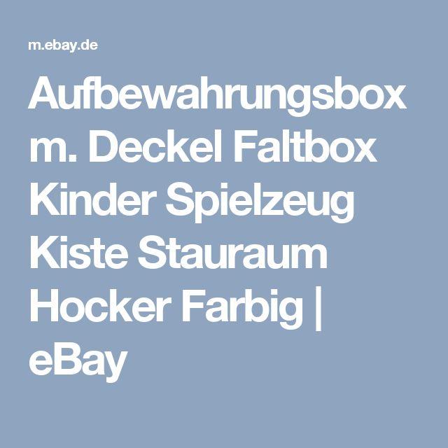 Deckel Faltbox Kinder Spielzeug Kiste Stauraum Hocker Farbig
