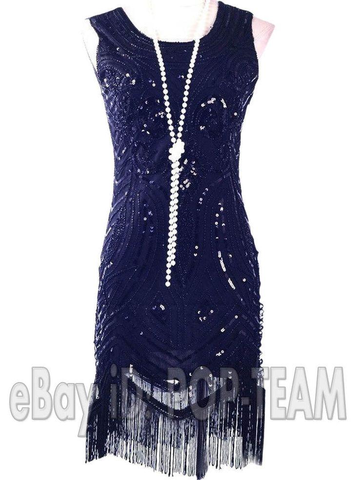 Vintage Clothing 1920s Flapper Dress Gatsby Charleston Fringe Beads Sequin Dress #Unbranded #BallGownEveningGownFringeStretch #CocktailEveningPartyPromWeddingHalloween