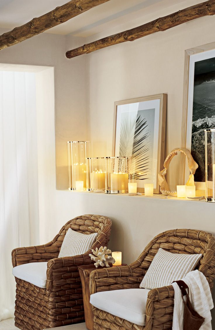 Ralph lauren home collection furniture - A True Ralph Lauren Home Coastal Retreat With Flickering Candles Alongside Our Natural Basketwoven Joshua Tree