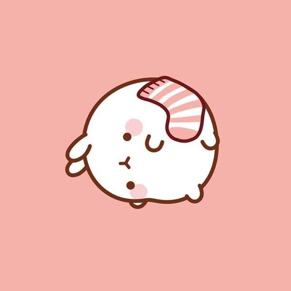 Molang with a pink sock