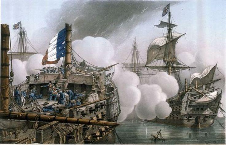 Le Tonnant, au Combat D' Aboukir, (le 1er Août 1798)