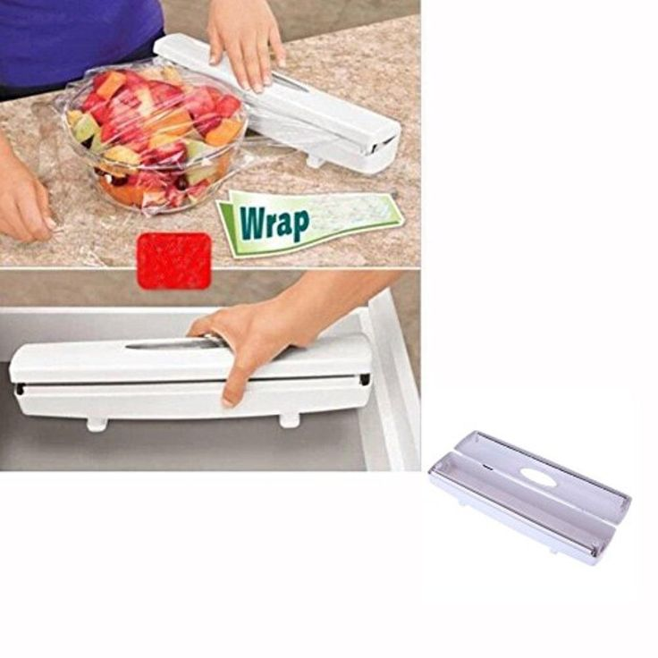 Easy Kitchen Plastic Wrap Dispenser Cutter Food Storage Holder Blade Cutter Tool - Brought to you by Avarsha.com