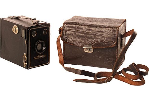 Vintage Camera & Case  $99.00  $165.00 Estimated Market Value    Era:  Vintage  Condition:  Good; bears individual marks of use and history