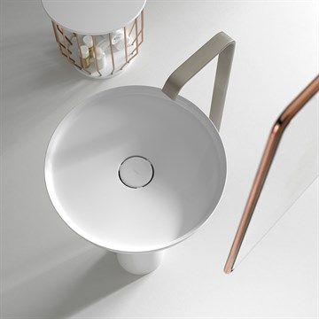 Bowl - Fritstående håndvask i smukt design fremstillet i Ceramilux®