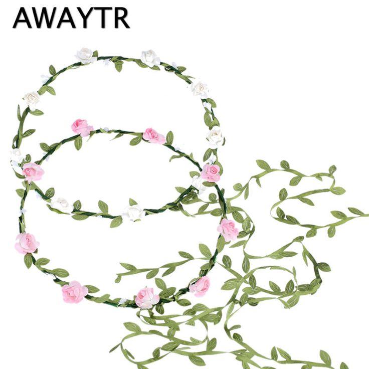 2017 Hair Bands for Girls Bohemian Style Wreath Flower Crown Wedding Garland Forehead Hair Head Band Accessories