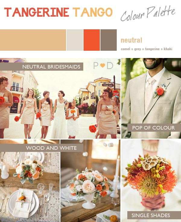 17 best images about platinum and orange wedding on