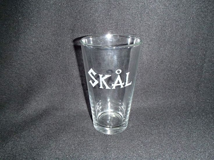 Two Scandinavian Cheers Skal Pint Beer Glasses www.giftchaletauburn.com