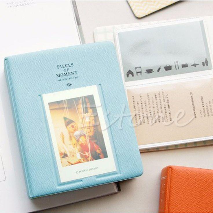 F85 для 64 карманы фотоальбом чехол для Fujifilm Instax Mini8 7 s 25 50 s 90 жк-поляроид синий
