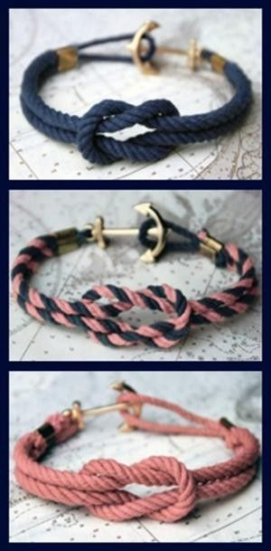Infinity/Anchor bracelets by melissashinnadolph