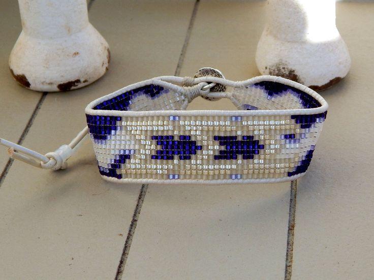 Custom Sorority Greek Letter Loom woven friendship bracelet
